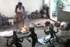 Inde : statuettes en bronze