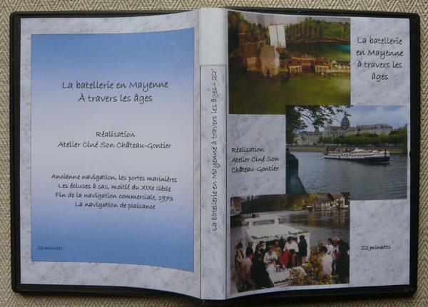 Pochette DVD Batellerie sur la Mayenne