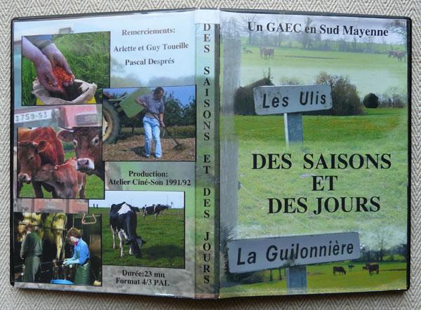 Pochette DVD Des saisons et des jours